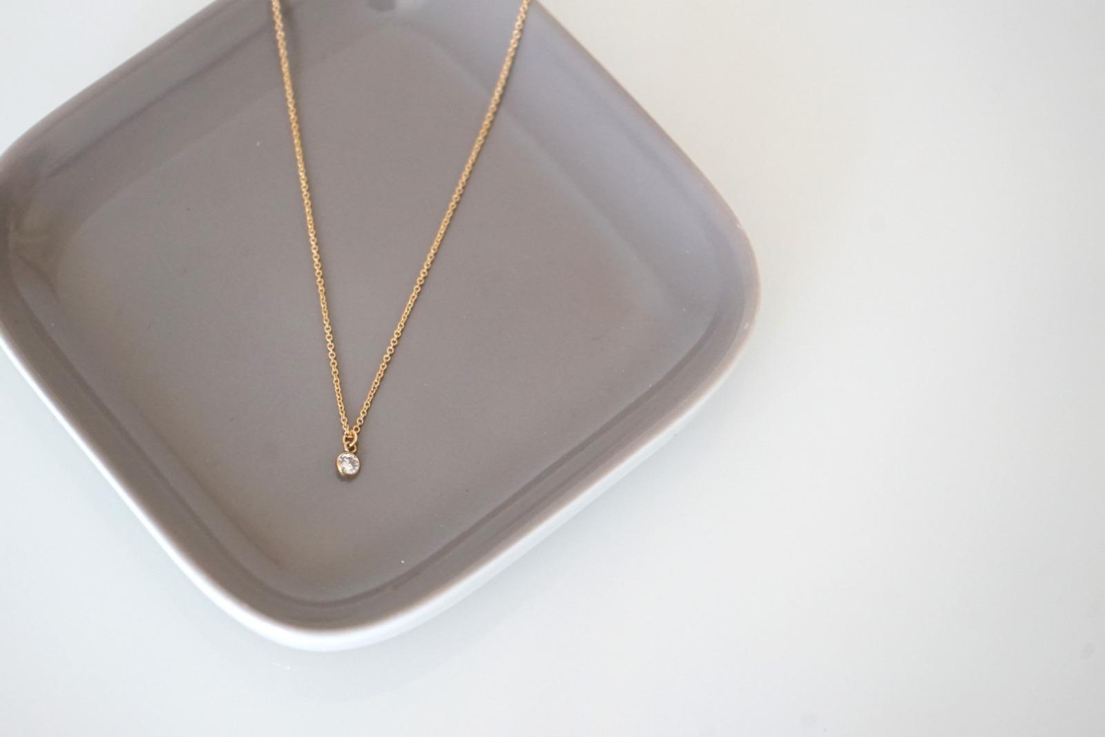 Feine Ankerkette vergoldet Kristall weiß