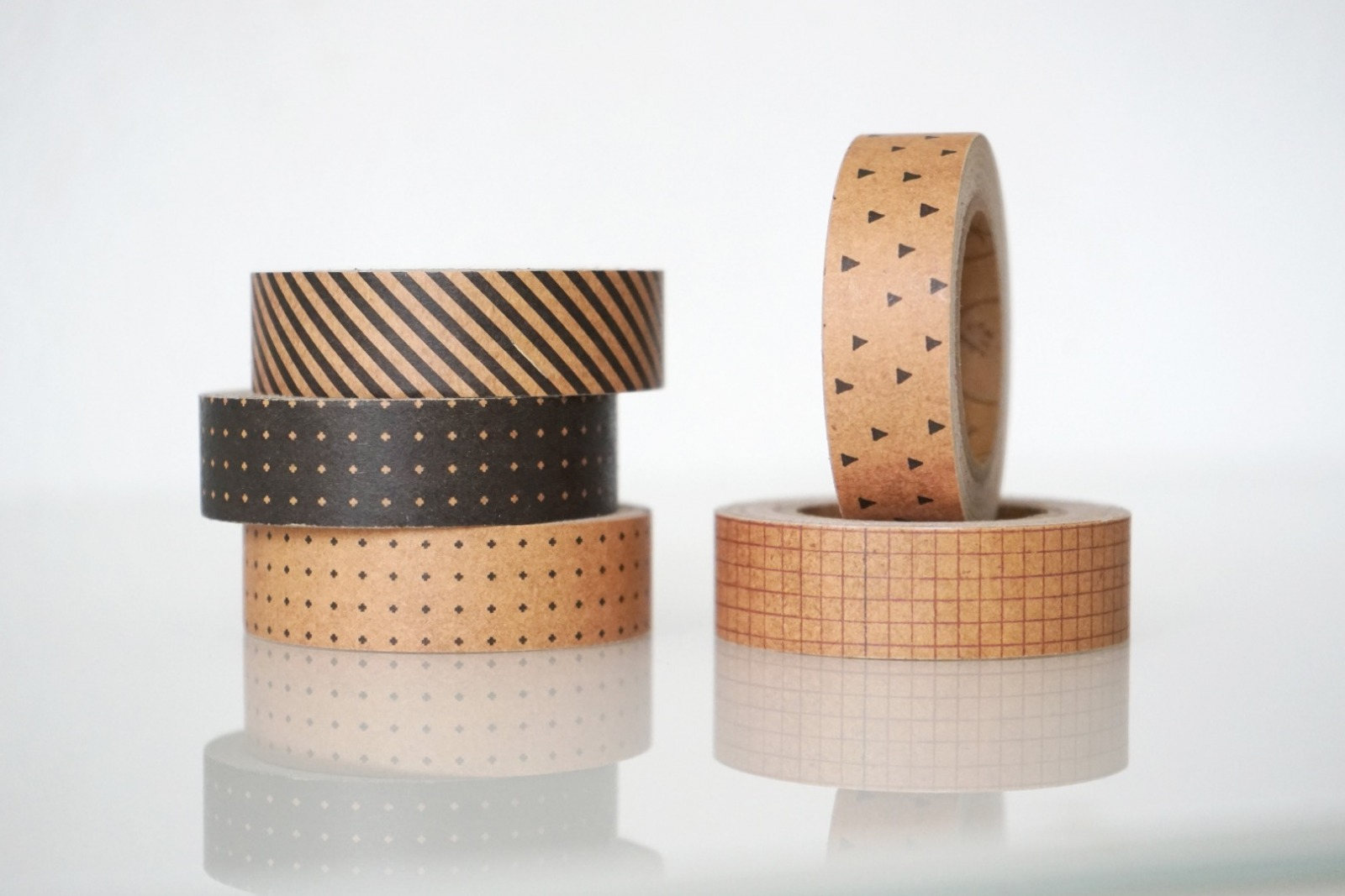 Klebeband Kraftpapier geometrische Muster