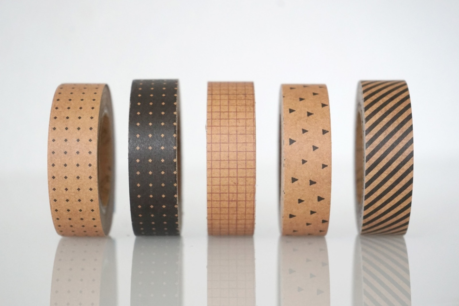 Klebeband Kraftpapier geometrische Muster 2