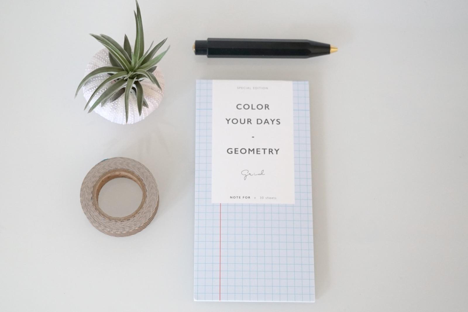 Memo Pad Notizzettel Geometrisch Linien