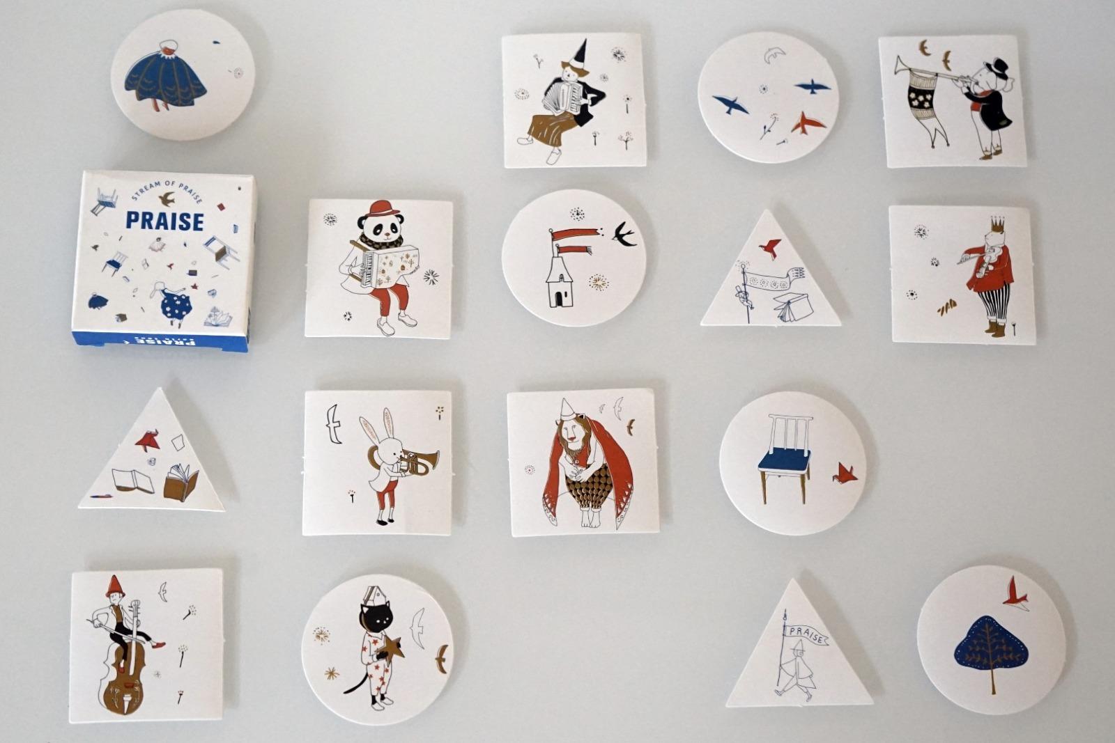 Sticker Set Zirkus mit 40 Aufklebern - 2