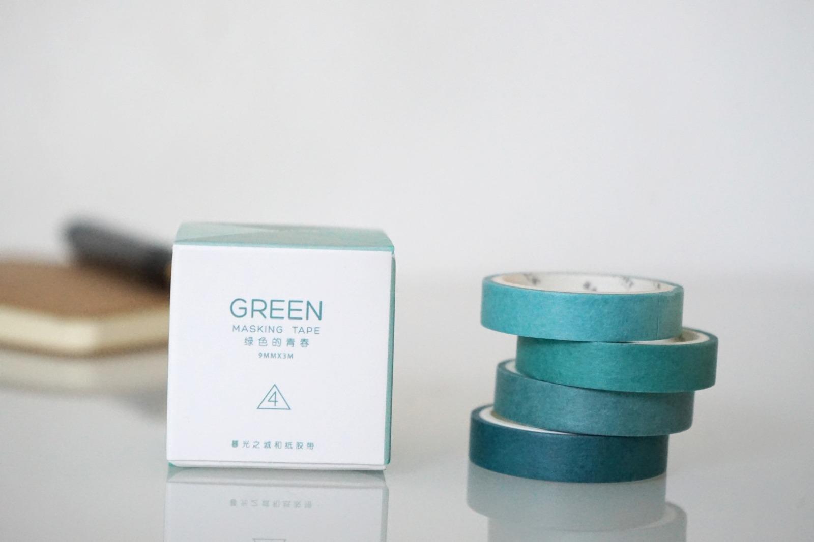 Klebeband Washi Tape Green - 1