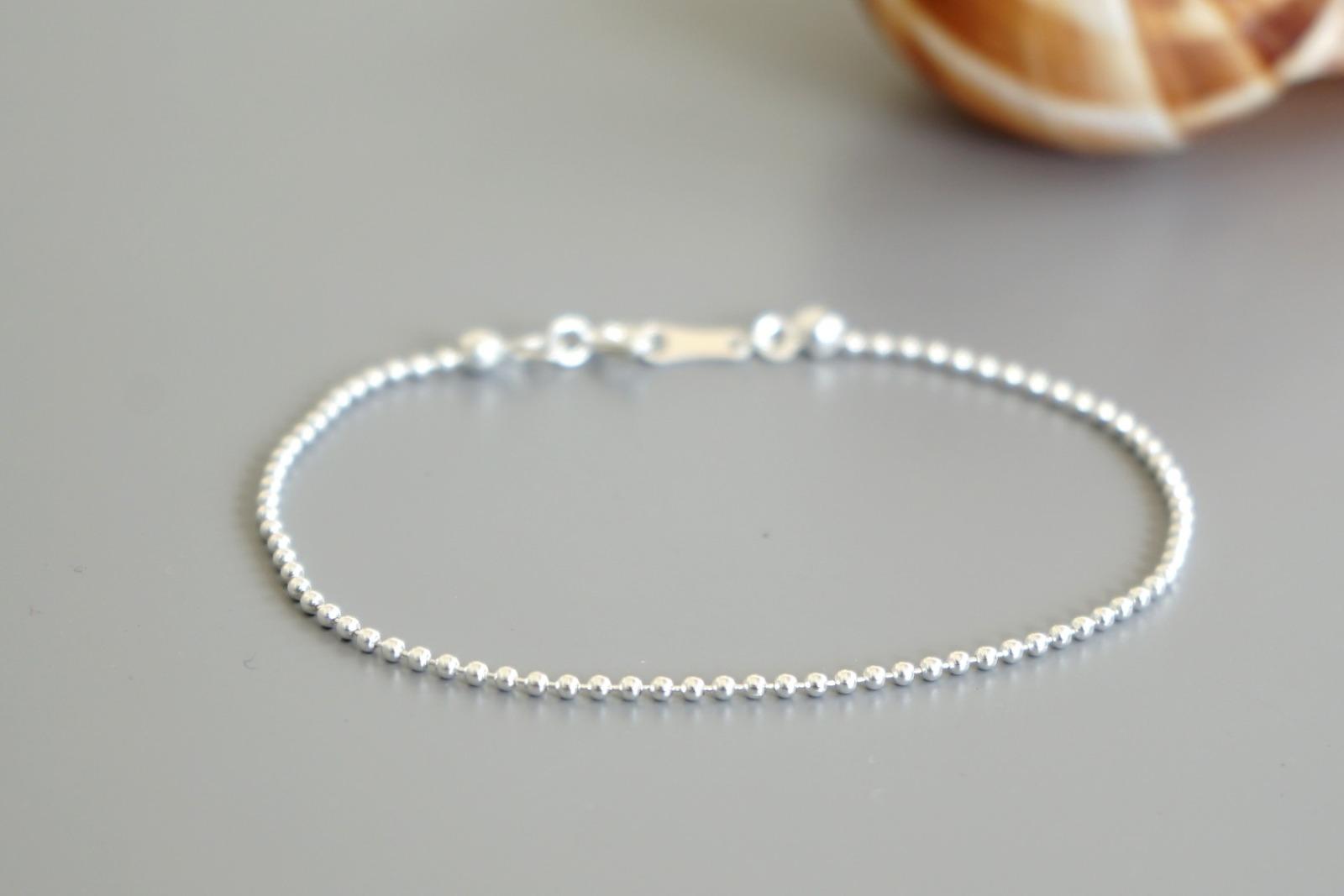 Feines Armband Kugelkette 925 Sterling Silber - 1