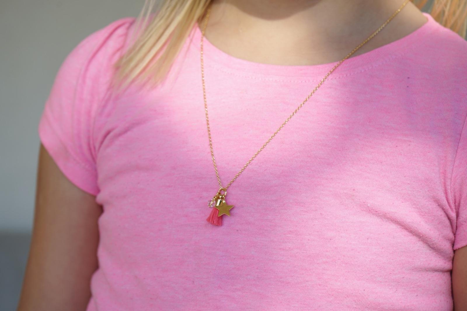 Kette Gold mit Glitzeranhänger - Mint