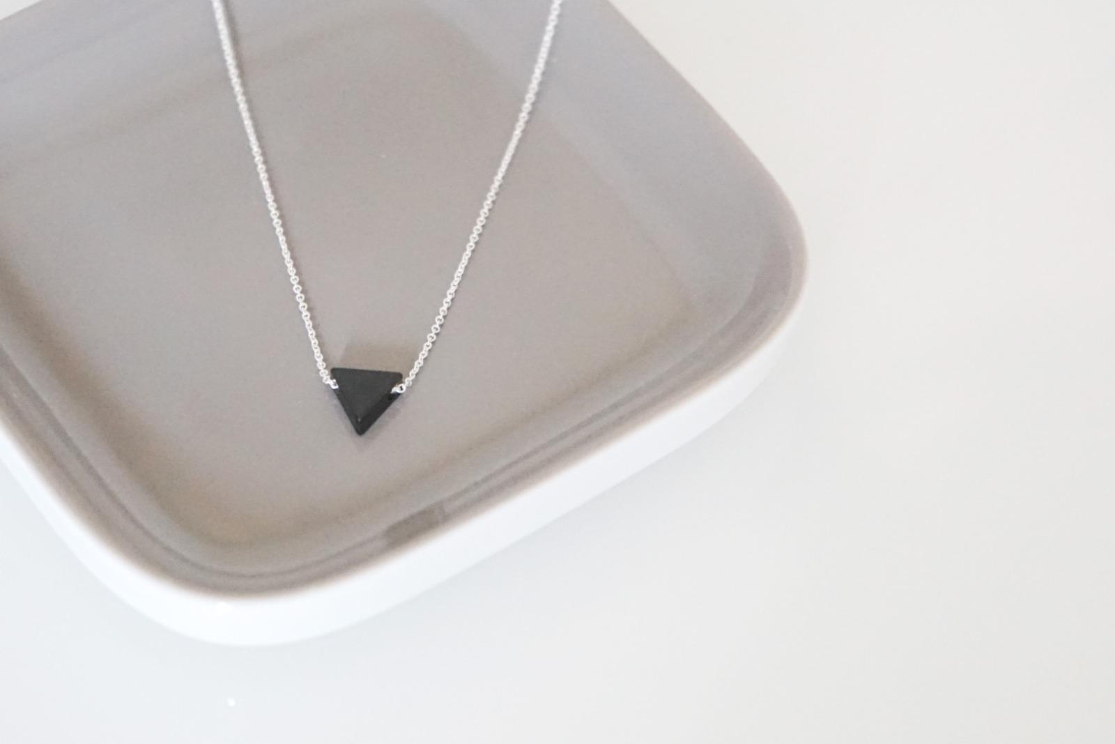 Feine Ankerkette Sterling Silber geometrischer Dreieck