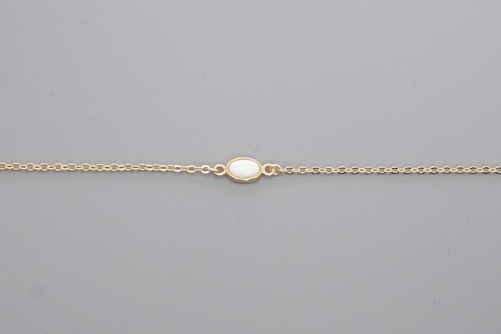 Filigranes Armband vergoldet mit Opal - 2