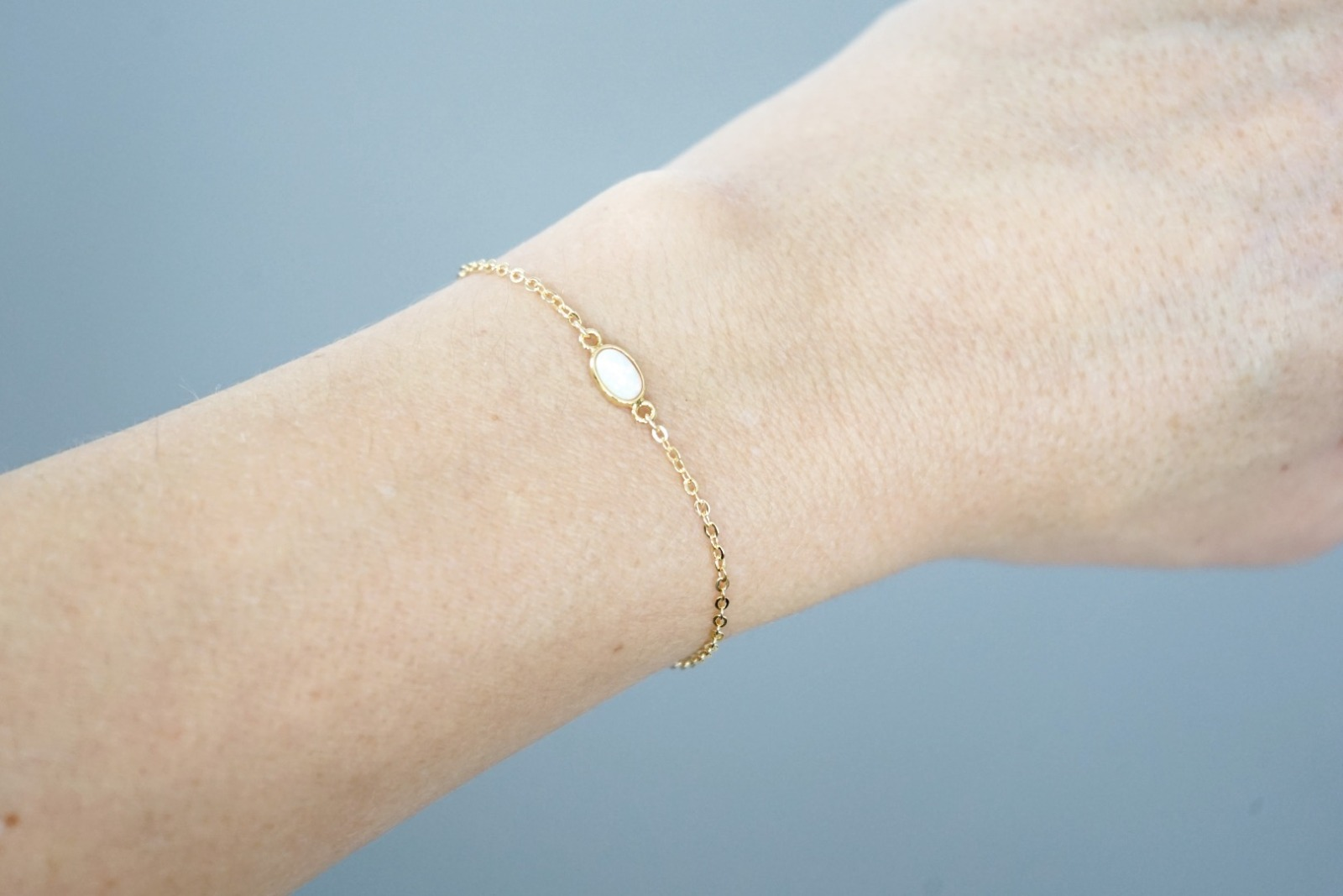 Filigranes Armband vergoldet mit Opal 3
