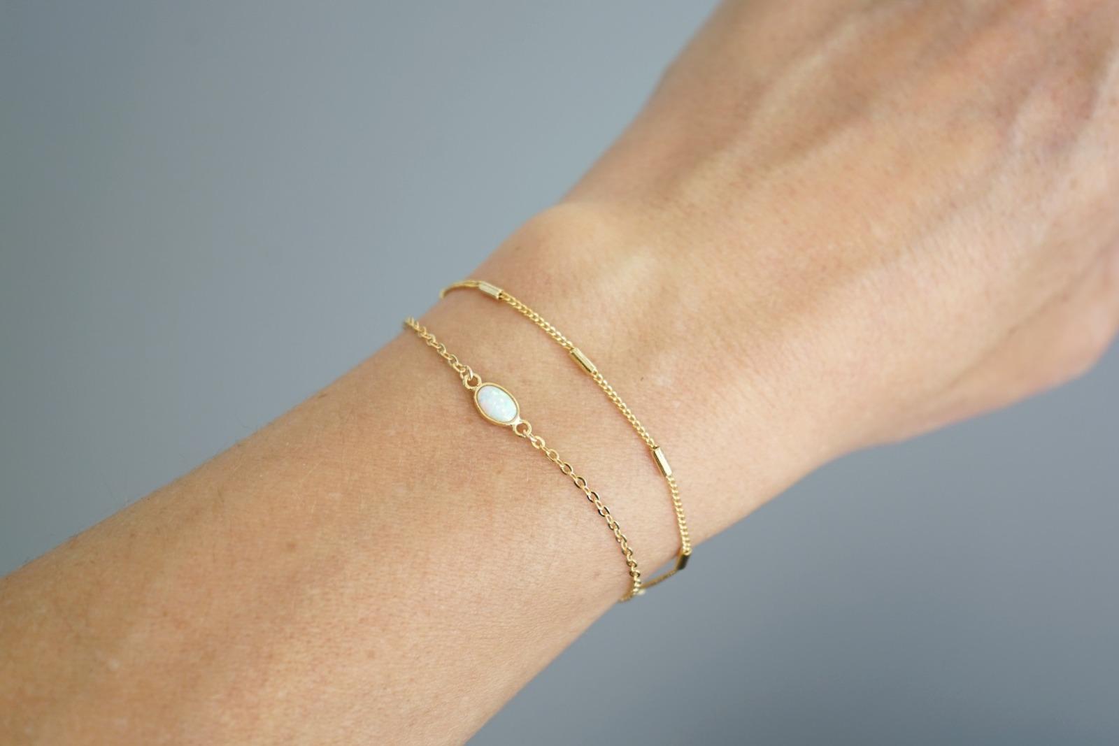 Filigranes Armband vergoldet kleine Röhrchen - 3