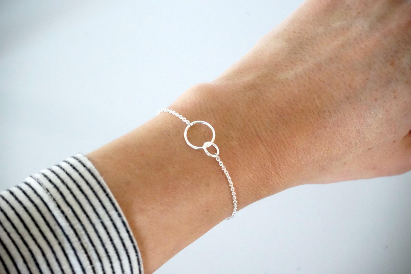 Feines Armkettchen Loops 925 Sterling Silber