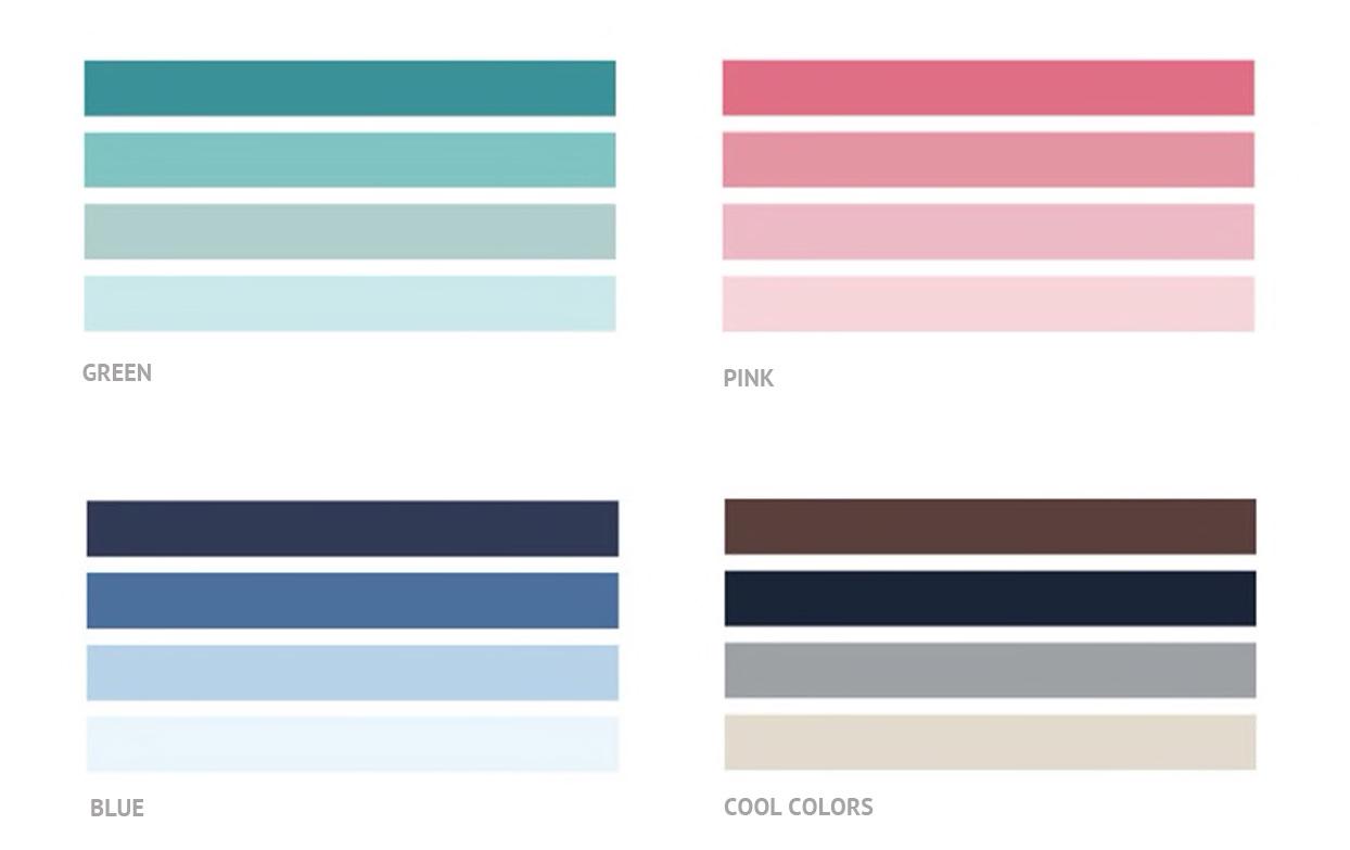 Klebeband Washi Tape Cool Colors - 3