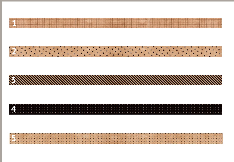 Klebeband Kraftpapier geometrische Muster 3