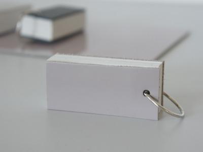 Mini Notizbuch Vokabeltrainer Leder - mauve