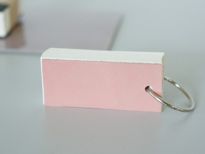 Mini Notizbuch Vokabeltrainer Leder - rosa