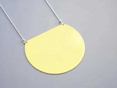 Statement Kette geometrisch gelb