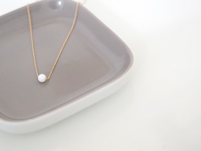 Feine Ankerkette 925 Sterling Silber vergoldet Perle Jade Weiß