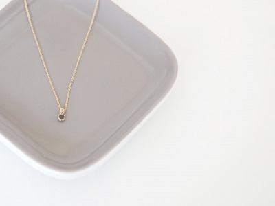Feine Ankerkette vergoldet Kristall schwarz