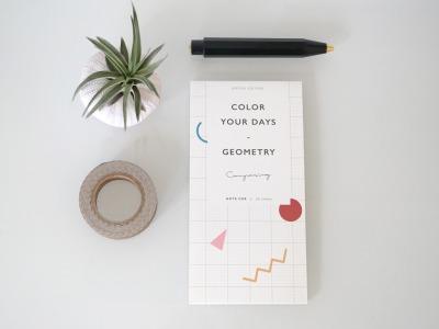 Memo Pad Notizzettel Geometrische Formen