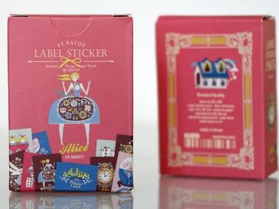 Stickerbox Alice im Wunderland mit 48 Aufklebern