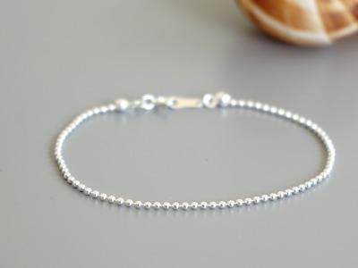 Feines Armband Kugelkette 925 Sterling Silber