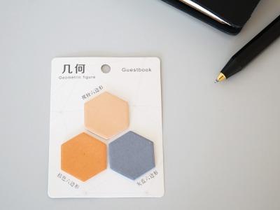 Sticky Notes Notizzettel Geometrisch Hexagon