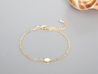 Filigranes Armband vergoldet mit Opal