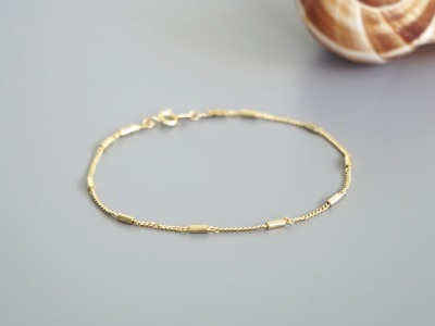 Filigranes Armband vergoldet kleine Röhrchen