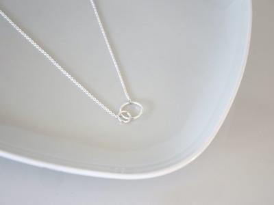 Feine Kette Halskette Loops Sterling Silber