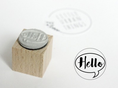 Stempel HELLO - 20x20mm