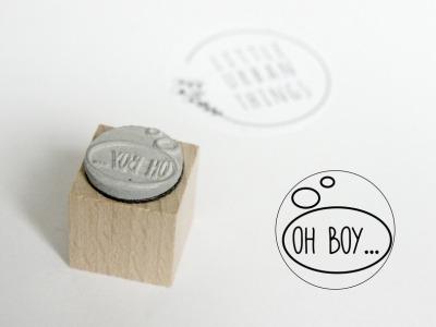 Stempel OH BOY - 20x20mm