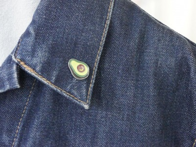 Brosche Pin Avocado