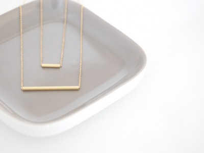 Set Ankerkette vergoldet mit Röhrchen gold