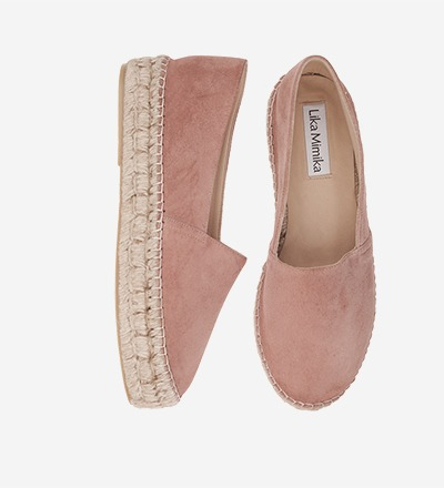 MAKE UP Goat Suede Upgrade Espadrilles
