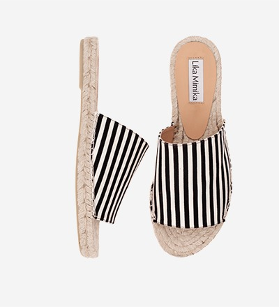 SKINNY STRIPES - Slipper Espadrilles
