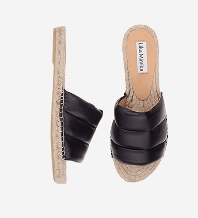 BLACK - Slipper Padded