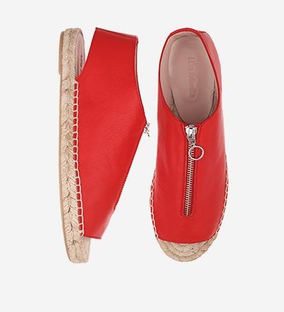 FLAMINGO - Peep Toe Zipper Sandal