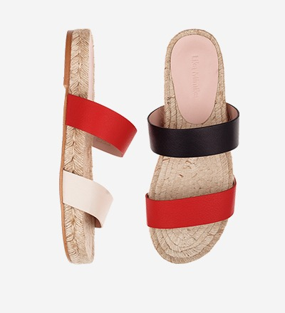 CREME BLACK FLAMINGO - Tricolor - Slip On Sandals