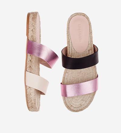 CREME BLACK ROSE - Tricolor - Slip On Sandals