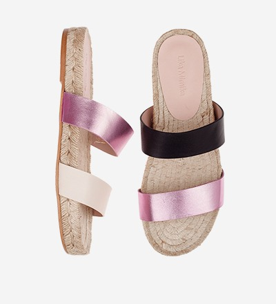 CREME BLACK ROSE - Tricolor - Slip On Sandals