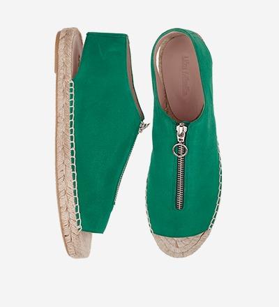 LEAF - Peep Toe Zipper Sandal