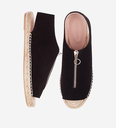 SUAVE - Peep Toe Zipper Sandal