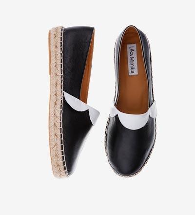 COLLAR - Calf Leather / Espadrilles