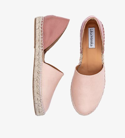 CIPRIA BLUSH - Calf Leather / Menorquinas