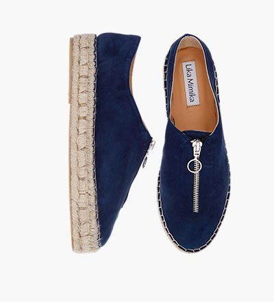 NAVY SUEDE - Zipper