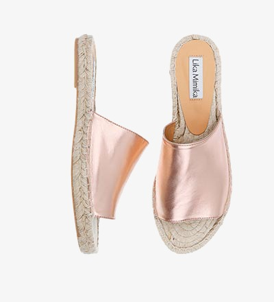 ROSE SHIMMER - Slipper