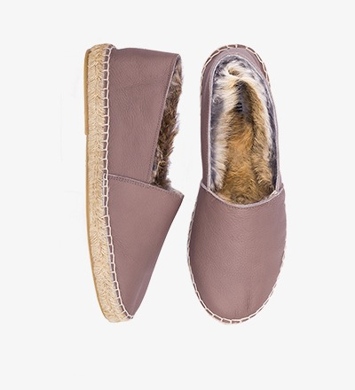 BEAR - RABBIT FUR ESPADRILLES