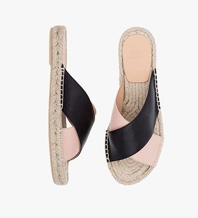 BLACK CIPRIA - Cross Sandal