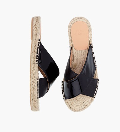 PITCH BLACK - Cross Sandal
