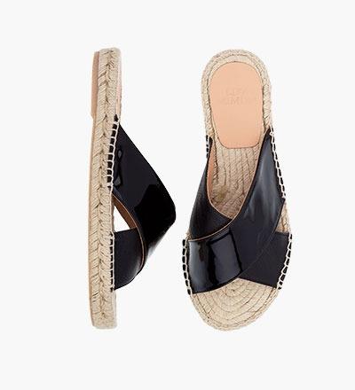 PITCH BLACK - Cross Sandal