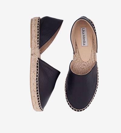 BLACK - Calf Leather / Menorquinas
