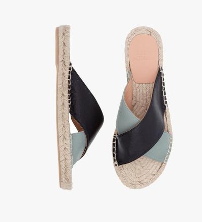BLACK SALVIA - Cross Sandal